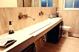 Undermount Double Faucet Trough Sink by Bathroom Sink Double Trough Bathroom Sink Native Trails