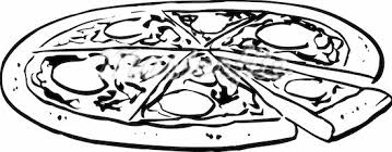 Pizza black and white pizza clipart black and white