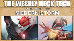mtg weekly deck tech modern storm youtube