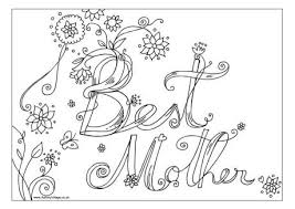 Best Mother Colouring Page