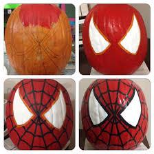 Spiderman Pumpkin Carving Templates Free by Spiderman Painted Pumpkin Home U0026 Garden Decor U0026 Crafts