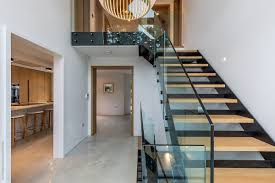 100 A Modern House Entrance Hall Of With Views Of Staircase Kitchen Nd