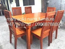 Attractive Startling Seater Solid Narra Dining Table Ium Size Of Home Wood Design