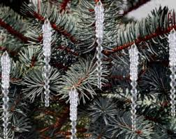 Gold Christmas Tree Tinsel Icicles by Tinsel Icicles Etsy