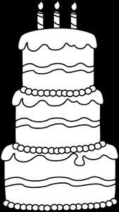 Black and White Big Birthday Cake