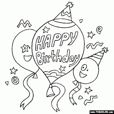 Free Birthday Coloring Pages Affordable Printable Best Online Page Within Happy Color With