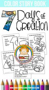Free Days Of Creation Bible Coloring Pages Thecraftyclassroom 2016 02 12 Preschool Printables