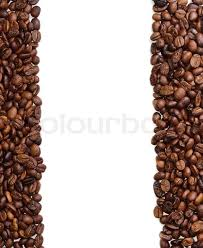 Coffee Beans Background In The Form Of A Handful On White