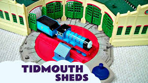trackmaster tidmouth sheds toy with thomas and friends hank scruff
