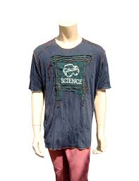 Smashing Pumpkins Zero Shirt by Mans T Shirt Gray Color Cotton Viscose Wrinkled Thin Fabric With