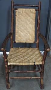 Recane A Chair Seat by Introducing Splint And Flat Reed Woven Onto Open Frames