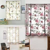 pfingstrose blume lila römischer vorhang küche fenster jalousien vorhänge 120 x 120 cm