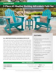 3-Piece All-Weather Rocking Adirondack Patio Set FEATURES ... Wooden Front Porch Rocking Chairs Pineapple Cay Allweather Chair White Features Amazoncom Xue Heavy Duty Sunnady 350 Lbs Durable Solid Wood Outdoor Rustic Rocker Camping Folding For Nursery Zygxq Garden Centerville Amish 800 Lb Classic Treated Double Ash Livingroom Indoor Best Home 500lb Heavy Duty Metal Patio Bench Glider