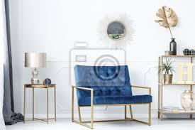 fototapete blau und gold wohnzimmer