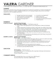 Retail Manager Resumes Resume Examples Best Assistant Store Example Objective
