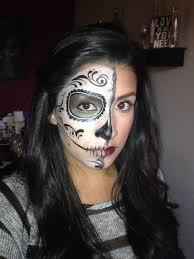 Halloween Half Mask Makeup by 41 Beautiful U0026 Colorful Sugar Skull Halloween Makeup Ideas Dead