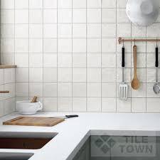 mallorca white kitchen wall tile