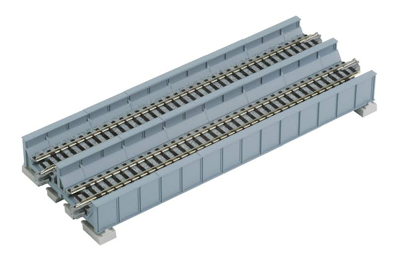 Kato N Gauge Unitrack Double Plate Girder Bridge Track - Gray, 7 5/16""