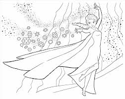 Frozen Elsa And Anna Coloring Pages Disney Princess New