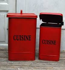 abfallbehälter set rot a