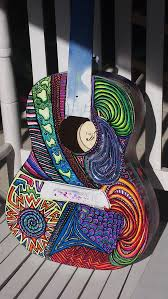 Guitar Art Psychedelic Graffiti Custom Paint Jobs