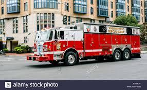 Fire Department Truck In Emergency Washington DC Stock Photo ...