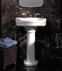 24 kohler bancroft pedestal sink single hole or 8 spread finish
