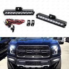 100 Truck Light Rack 100W CREE LED Bar Fog Lamp Kit W Lower Bumper Bracket For 17