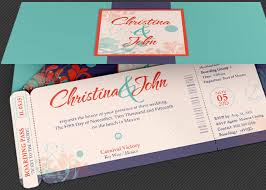 Wedding Pacific Boarding Pass Invitation Template