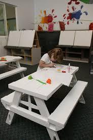 amazon com kids rectangular picnic table kitchen u0026 dining