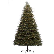 Barcana Christmas Trees by Sterling 7 Ft Pre Lit Tiffany Pine Half Artificial Christmas Tree