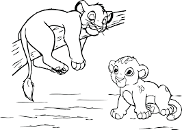 Lion King Coloring Pages Scar Babies Online Game 2 Simbas Pride Full Size