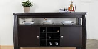 Dark Wood Buffet Table