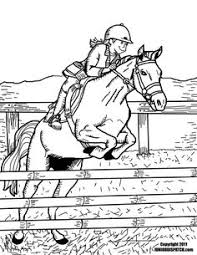 Horse Sports Colouring Pages