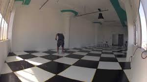 Checkerboard Vinyl Flooring For Trailers by Checker Board Floor Youtube