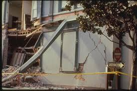 Close up View of Damage to Pacific Garden Mall Santa Cruz