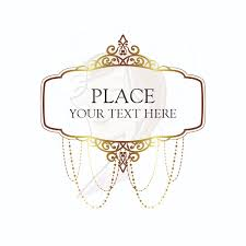 Gold Vintage Chandelier Frames Clip Art Heritage Ornate Border Victorian Antique Classic Design For Wedding