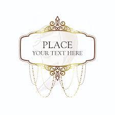 Gold Vintage Chandelier Frames Clip Art Heritage Ornate Border Victorian Antique Classic Design For Wedding