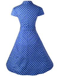 blue and white polka dot dress amazon com