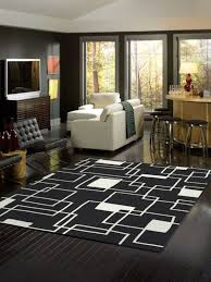 cheap black and white area rug for living room 100 for