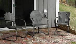 how to paint old and rusty metal outdoor chairs outdoor furniture painted furniture