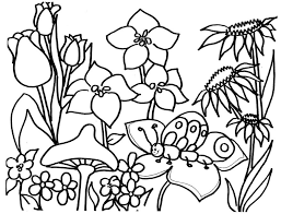 Flower Garden Coloring Page Book