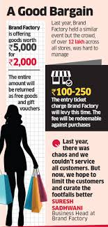 Entry Fee: Brand Factory To Charge Entry Fee On 'free-shopping' Days ...