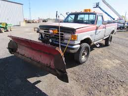 100 Truck With Snow Plow 1991 Used Ford F350 Snow Plow Truck With Western Plow
