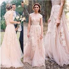 Lace Wedding DressColored DressRustic DressFlowy Dress