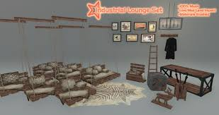 second marketplace sq industrial lounge set