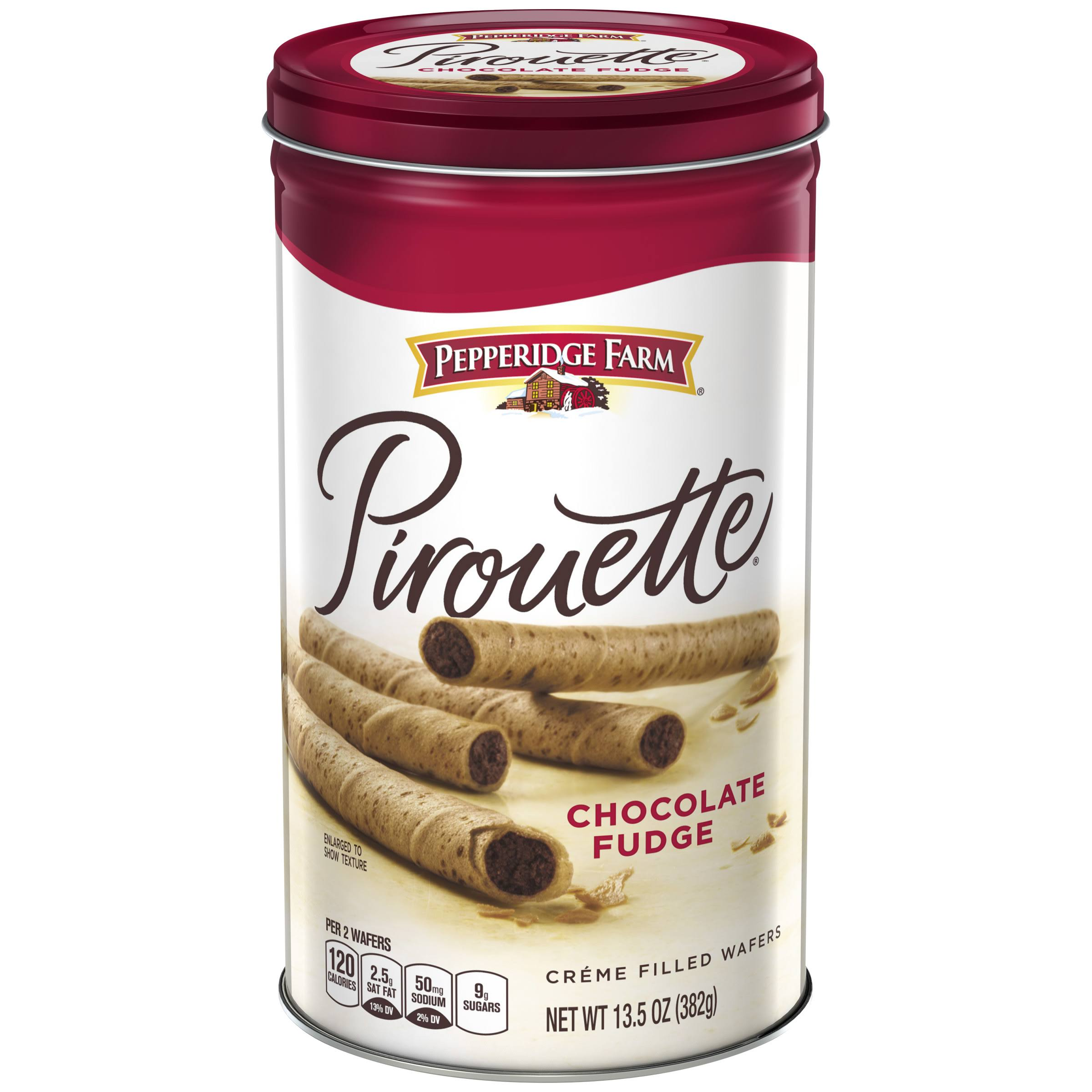 Pepperidge Farm Pirouette Créme Filled Wafers - 382g, Chocolate Fudge