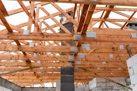 100 House Trusses Roof Trusses Not Covered With Ceramic Tile On A Detached House