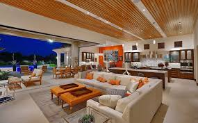 Beige Sectional Living Room Ideas by Open Concept Living Room Ideas Kitchen Contemporary With Striped