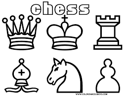 Free Chess Coloring Pages